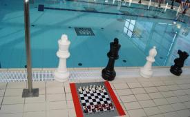 II Mistrzostwa Polski w szachach pod wodą otwarcie mistrzostw - plansza do gry